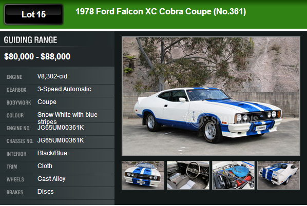 1978 Ford Falcon XC Cobra Coupe